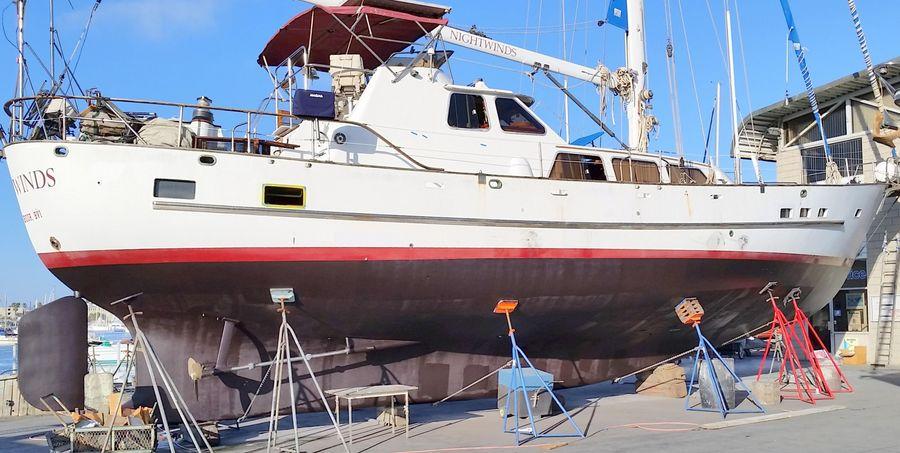 Cheoy Lee 63 Motorsailer in Shipyard