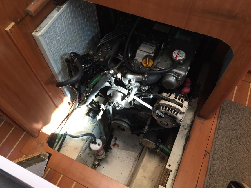 Hunter 41 Deck Salon Diesel Engine