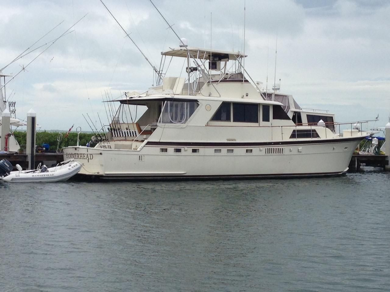 1975 hatteras yacht fisherman power boat for sale www for Hatteras motor yacht for sale