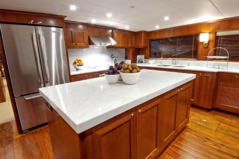Offshore 90 Voyager Galley Kitchen