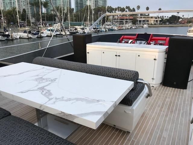 Amer 92 Yacht Flybridge Seating