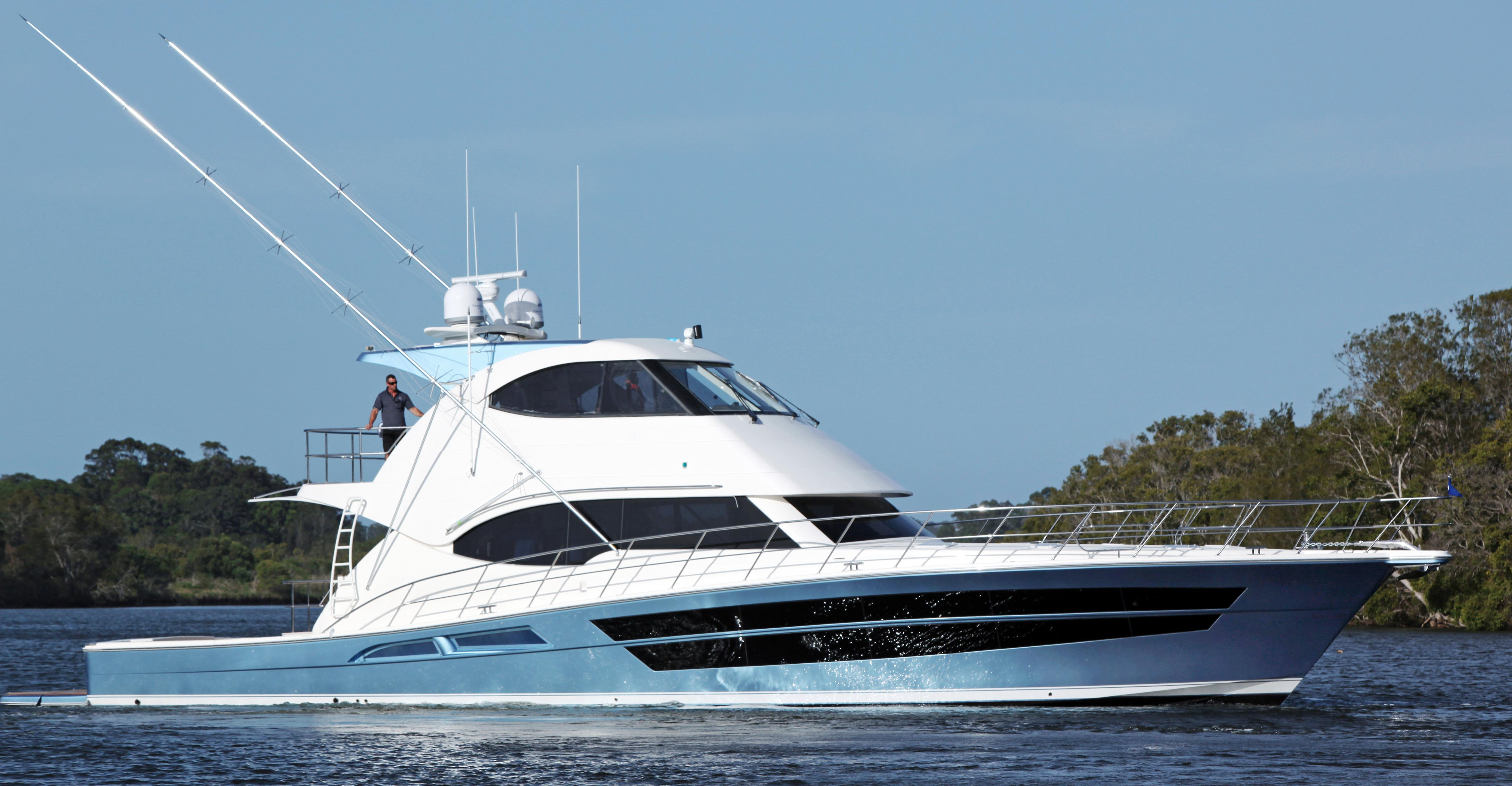 2018 riviera 77 enclosed flybridge power new and used