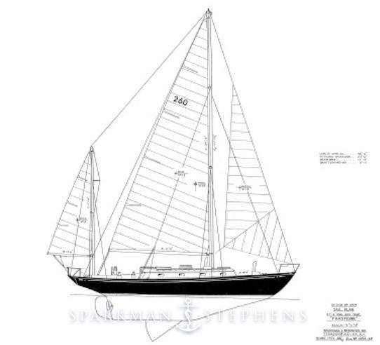 1960 Sparkman Stephens Finisterre Sail Boat For Sale