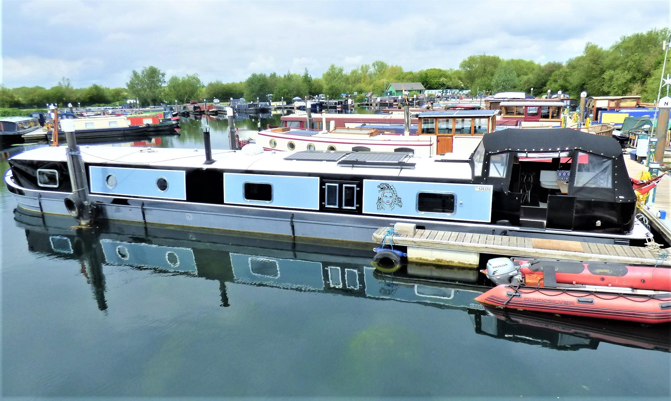 canal 3 way switch panel barge yacht. river cruiser Narrowboat