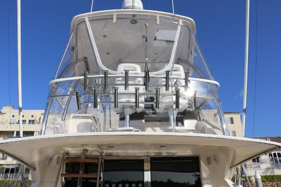 Riviera 43 Open Flybridge Rod Holders