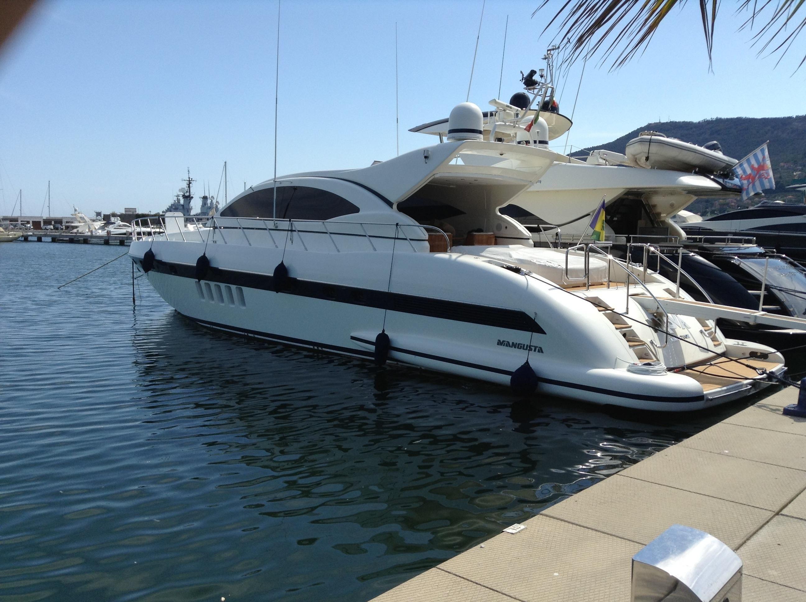 2003 overmarine mangusta 72 power boat for sale www for Johnson marine italia