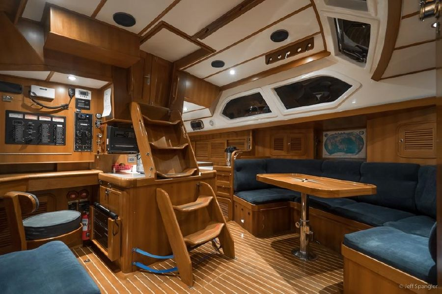 Tayana 48 Deck Salon Interior