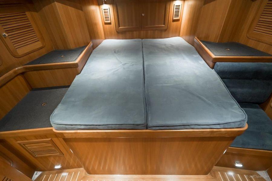Tayana 48 Deck Salon Master Cabin Bed