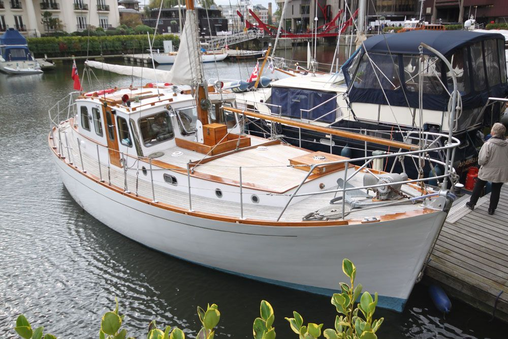 1965 g l watson spey class motor sailer sail boat for sale for Motor sailer boat plans