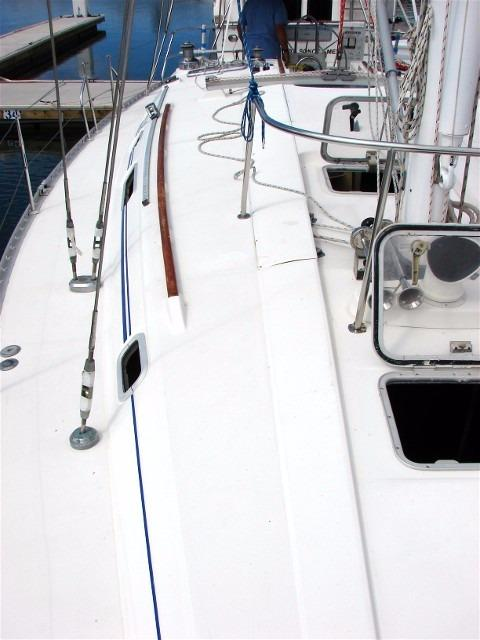 44' Beneteau Oceanis 440 Aft Cockpit Sloop+View from the companionway
