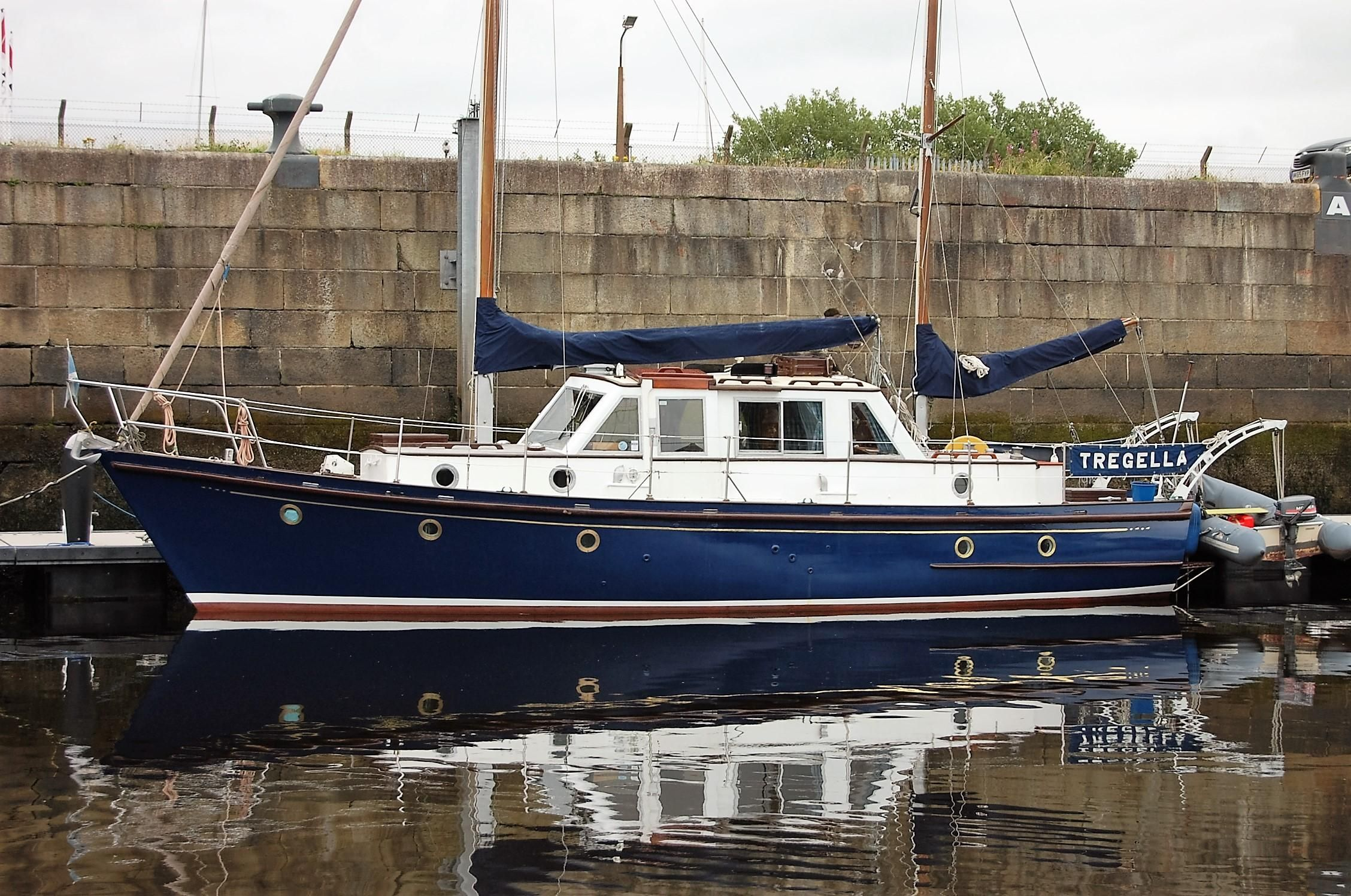 1965 lundy class motor sailer ketch sail boat for sale for Motor sailer boat plans