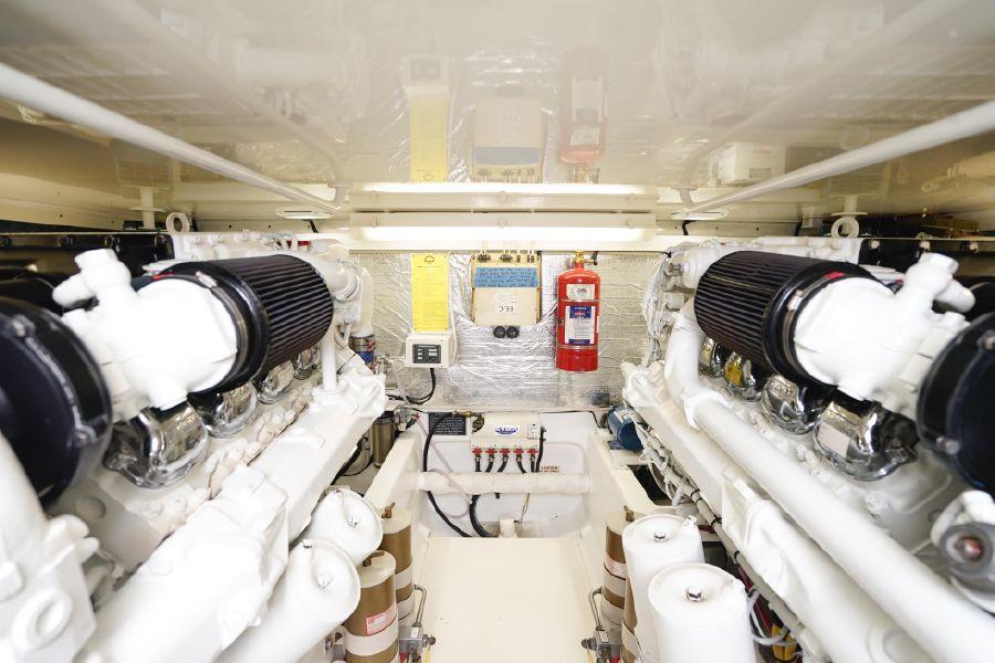 Cabo Yachts 47 Flybridge Engine Room