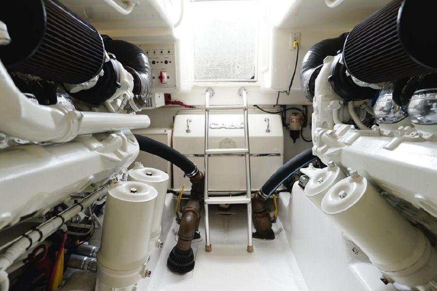 Cabo 47 Flybridge for sale Engine Room