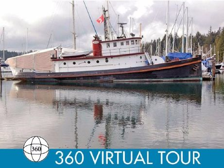 1890 Converted Tug Historic 78 Foot Workboat Liveaboard / Yacht Conversion