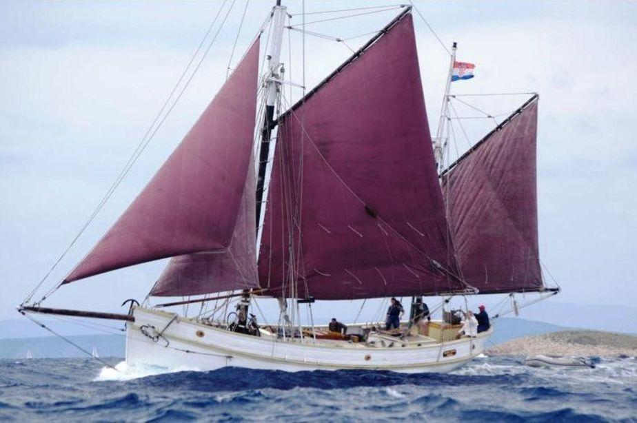 1929 Classic Haikutter Gaff Rigged Ketch Segel Boot zum