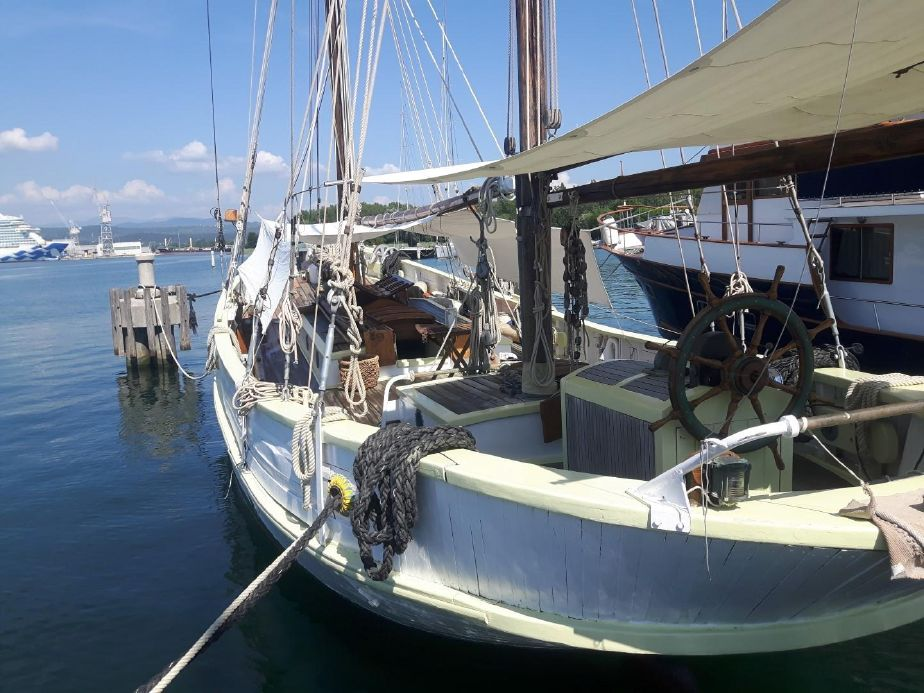 1929 Classic Haikutter Gaff Rigged Ketch Sail Boat For Sale