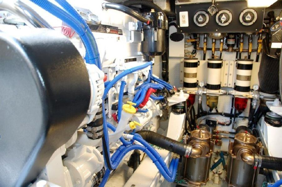 Mikelson 57 Sportfishing Yacht Engine Room