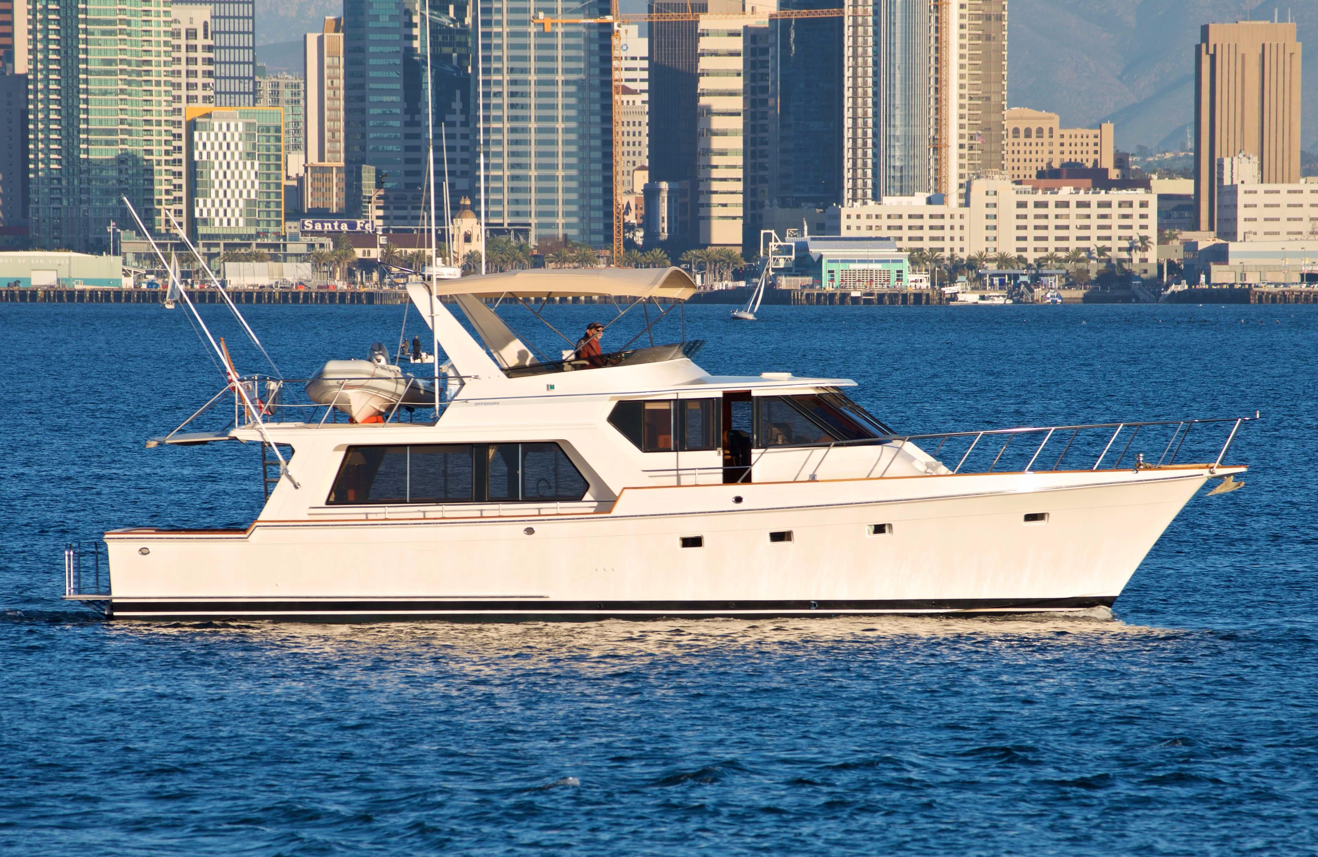 1995 offshore pilothouse motor yacht power boat for sale for Worldwide motors san diego ca