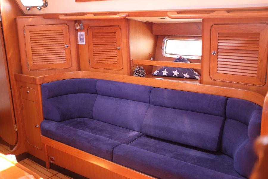 Hylas 46 Sailboat Salon Sofa