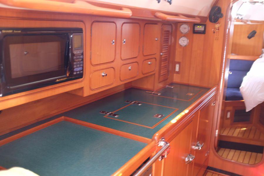 Hylas 46 Sailboat Galley kitchen