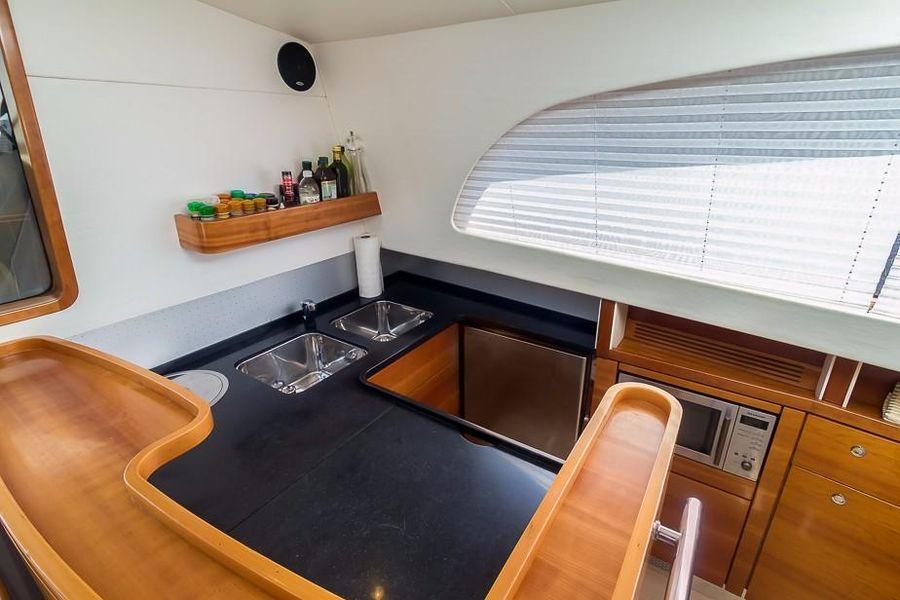 Alliaura Feeling 55 Sailboat Galley Kitchen