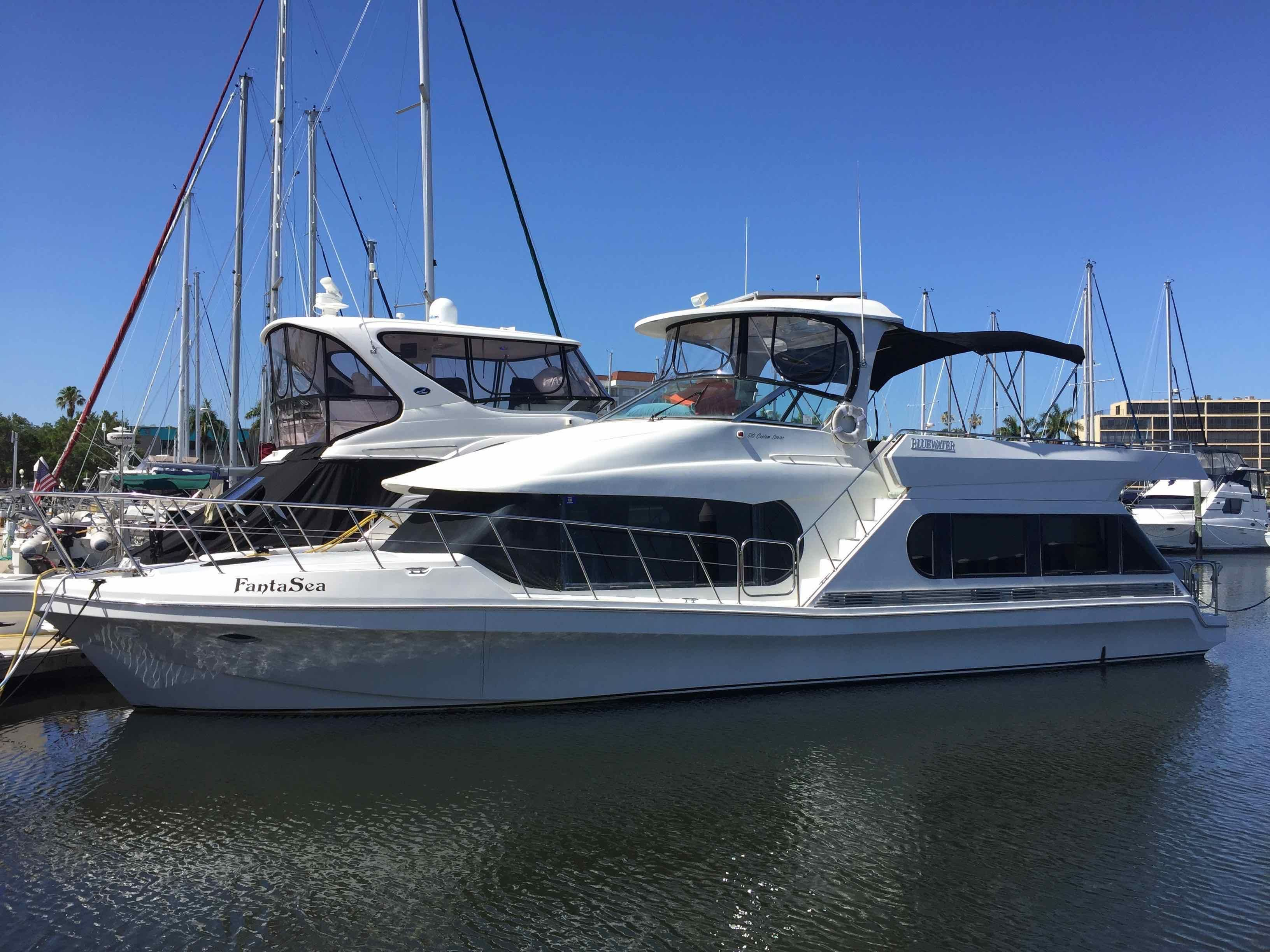 1997 Bluewater Yachts 510 Coastal Cruiser Power Boat For