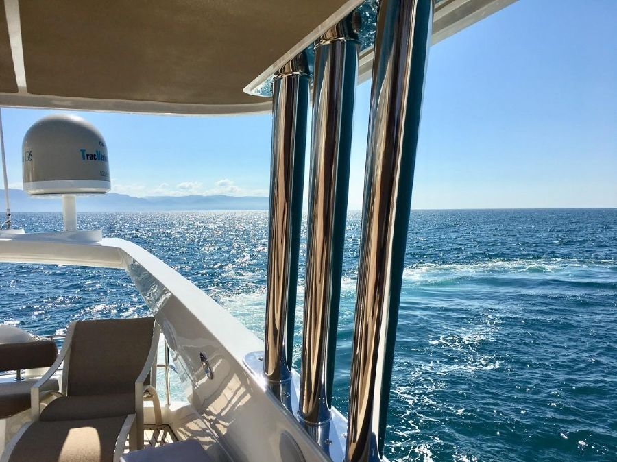 Sunseeker 82 Yacht Flybridge View