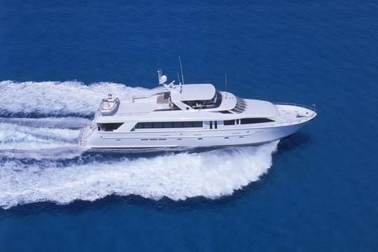 100' Hatteras yacht for sale