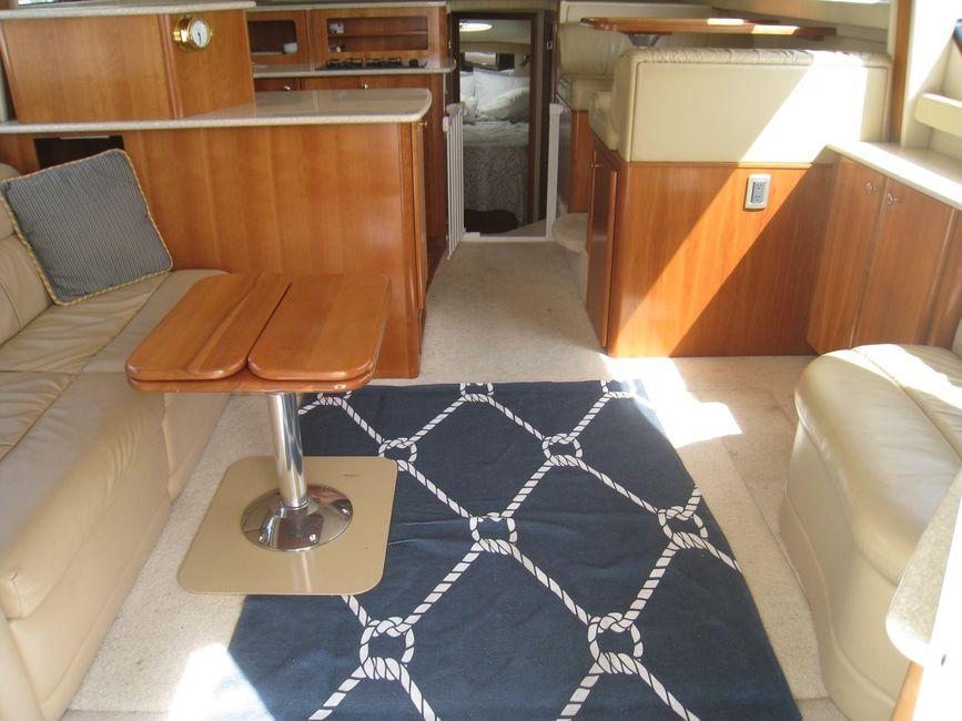 Meridian 381 Sedan Bridge Salon Looking Forward