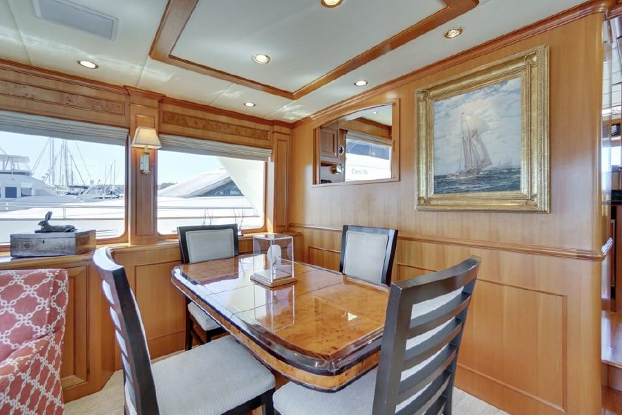 Offshore Yachts 76 Salon Dining Table