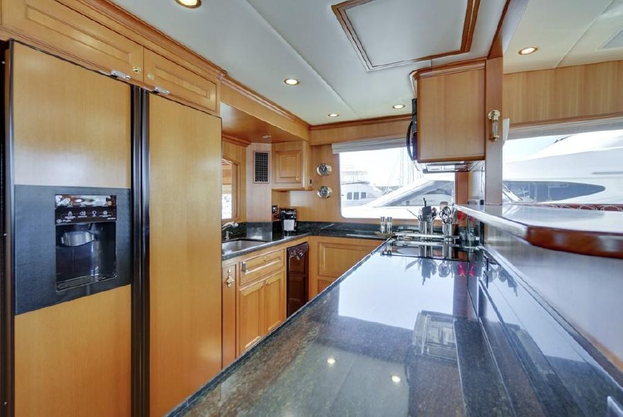 Offshore 76 Yacht Galley Kitchen