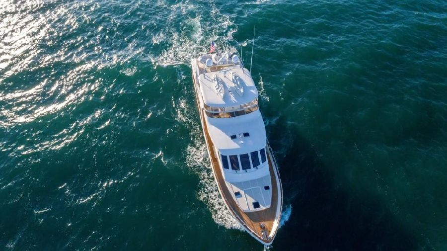 Offshore 76 Motoryacht Aerial Photo