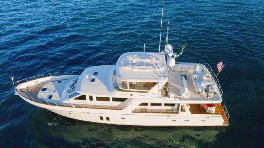 Offshore 76 Motoryacht Aerial Shot