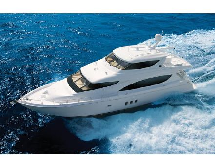 2007 Hatteras 80 Motor Yacht Sky Lounge