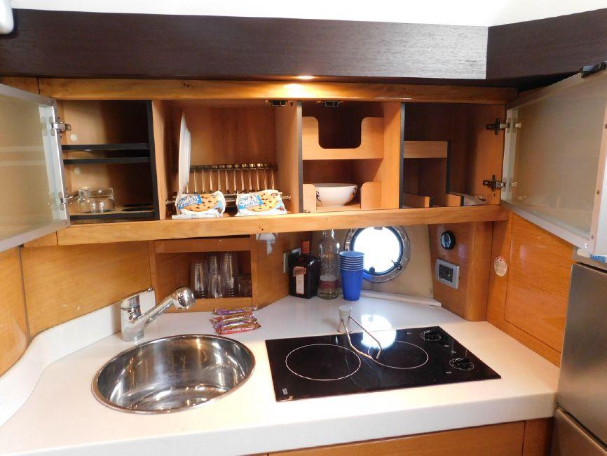 Cranchi 43HT Galley Kitchen