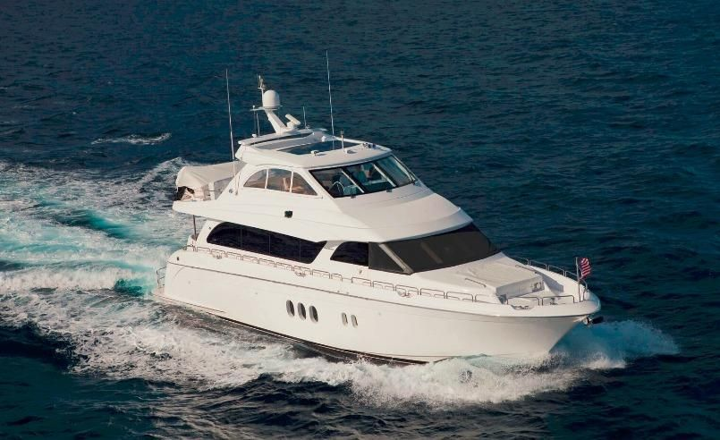 2008 hatteras 72 motor yacht power boat for sale www for Motor yachts for sale in florida