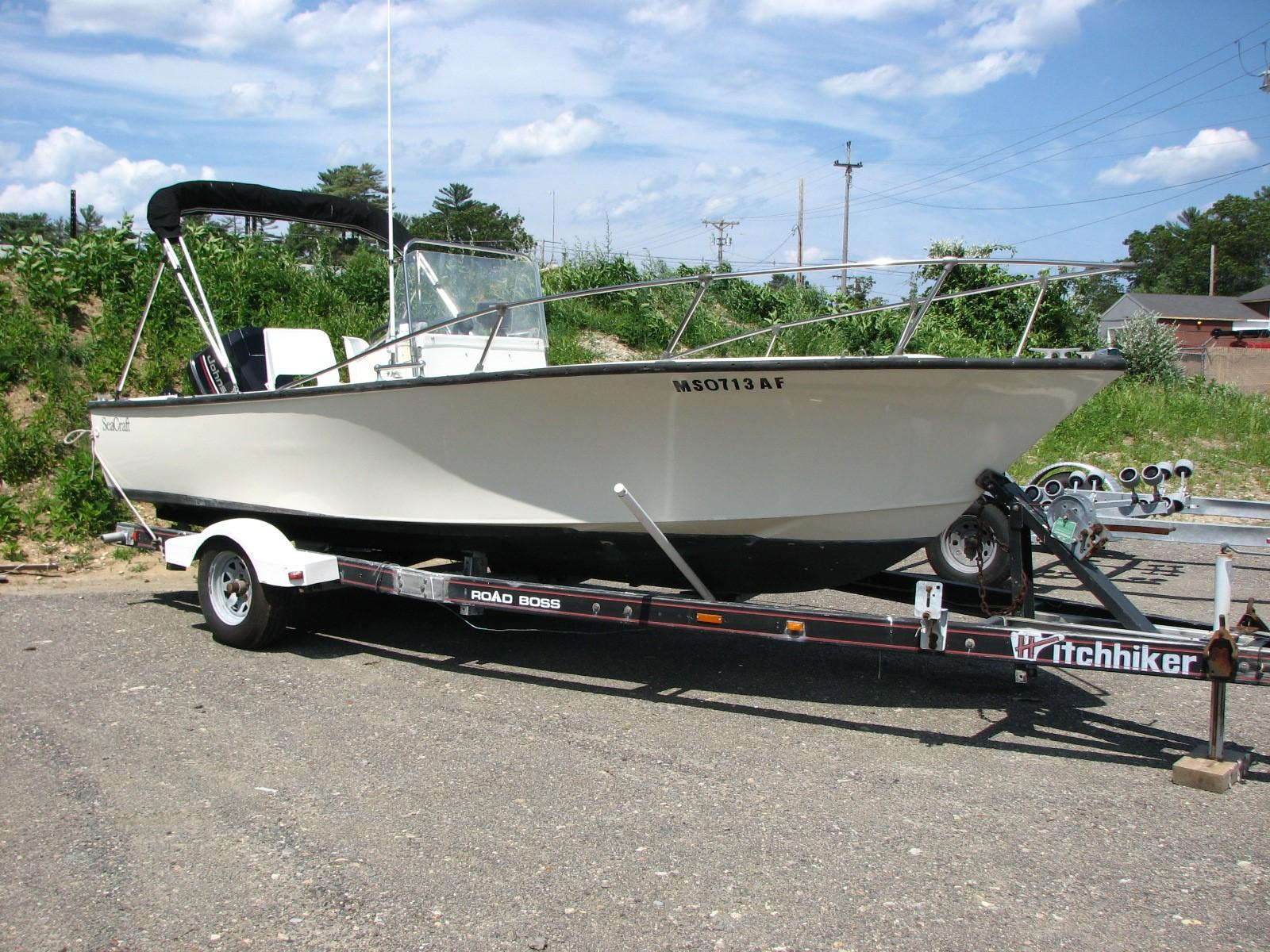 1973 Seacraft 20 Classic Potter Hull Power Boat For Sale