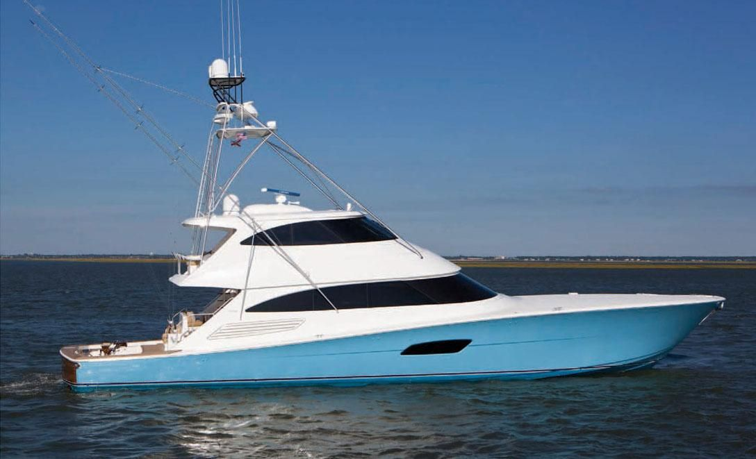 2018 viking 92 enclosed bridge power new and used boats for Deep sea fishing boats for sale