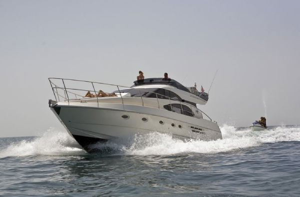 This vessel is a prime example of the Azimut 52.