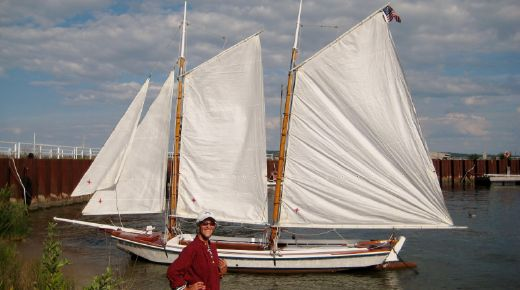 1970 Texas Coast Scow Schooner Scale Replica