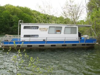 "1975 Crest 12' 6"" x 35 w/Catwalks Pontoon Houseboat"