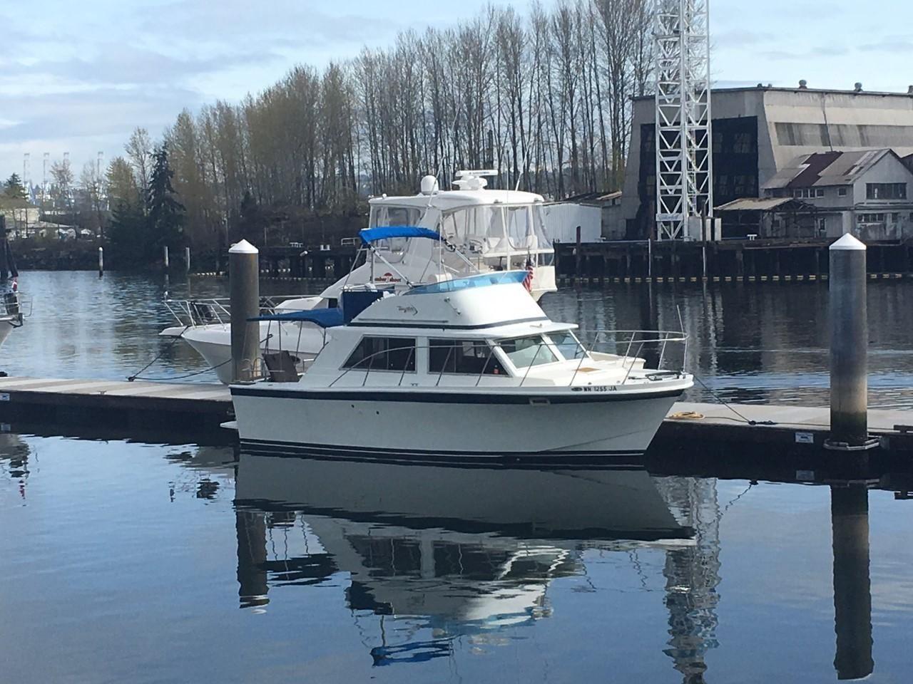 1977 Uniflite Sedan Fly Bridge Power Boat For Sale - www.yachtworld.com