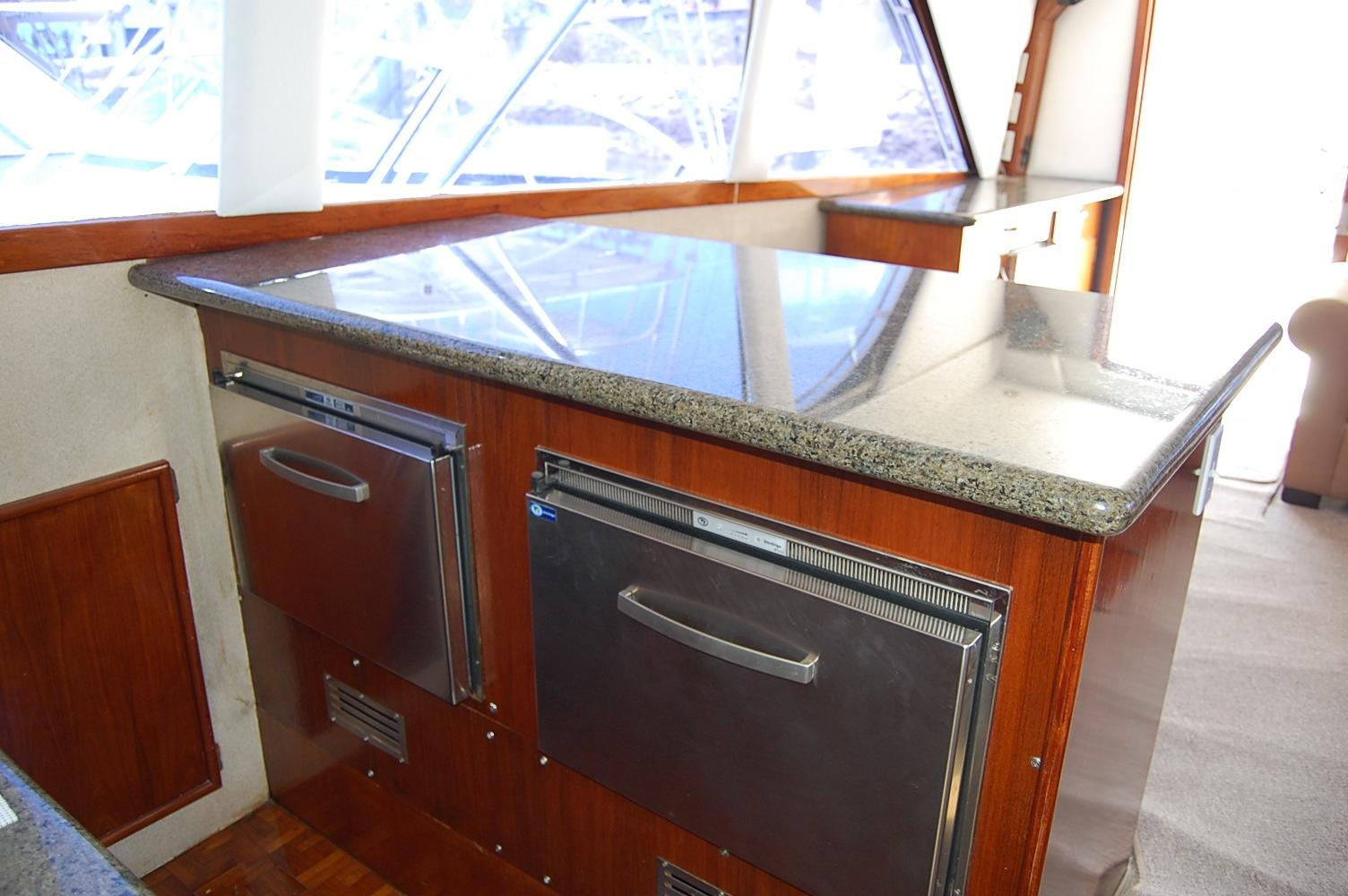 48' Ocean Yachts Super Sport+Galley looking Starboard