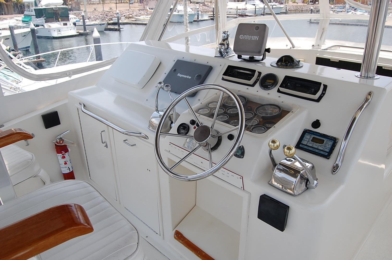 48' Ocean Yachts Super Sport+Aft looking Light Starboard
