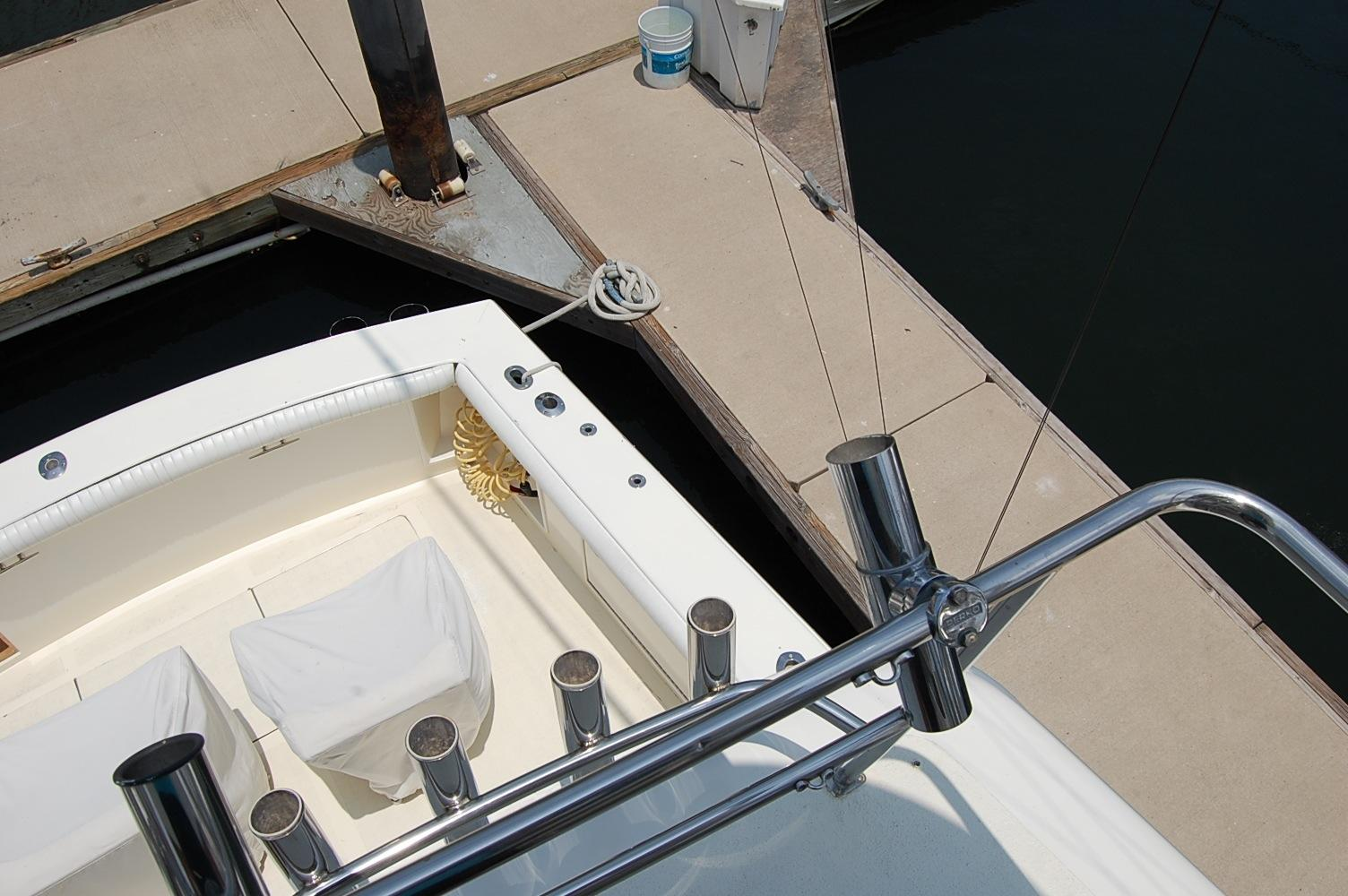48' Ocean Yachts Super Sport+Upper Helm Looking Aft