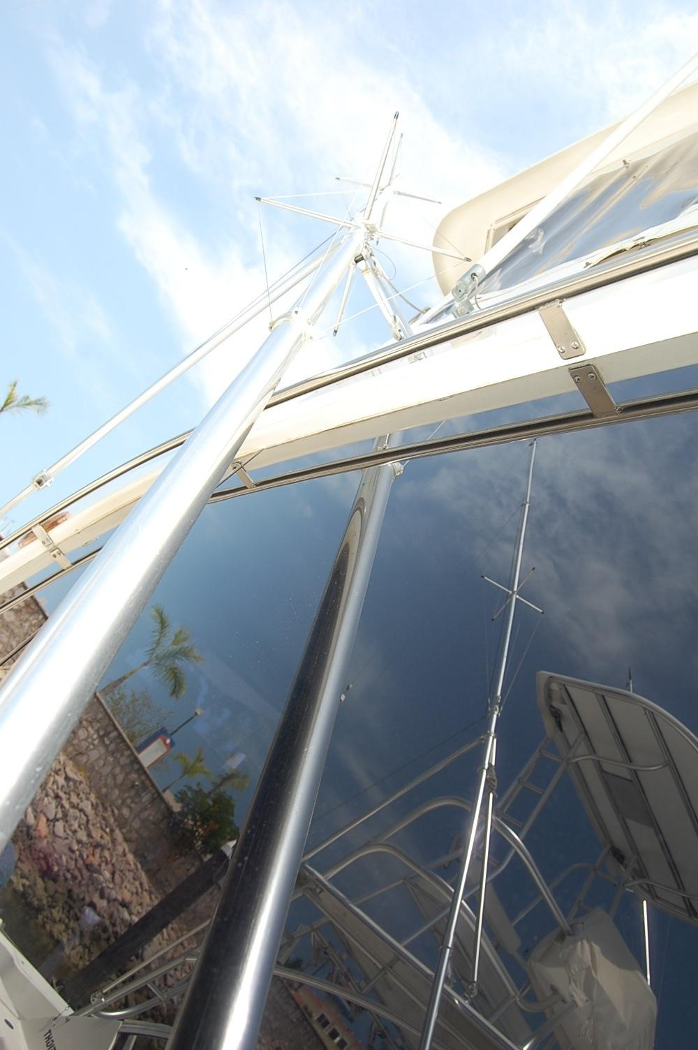 48' Ocean Yachts Super Sport+Looking Aft Upper helm
