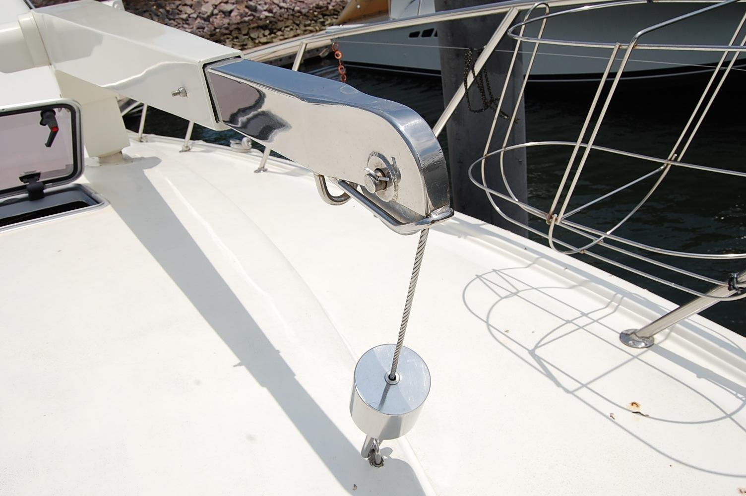 48' Ocean Yachts Super Sport+Upper helm View from Forward Deck