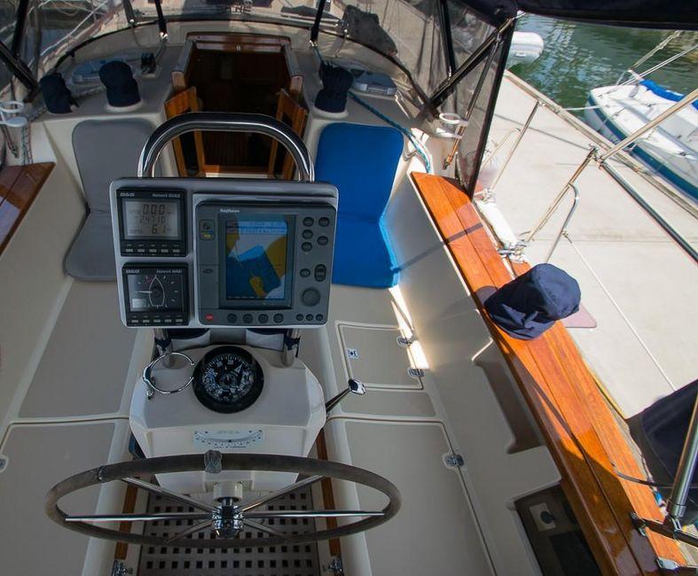 Island Packet 45 Sailboat Helm