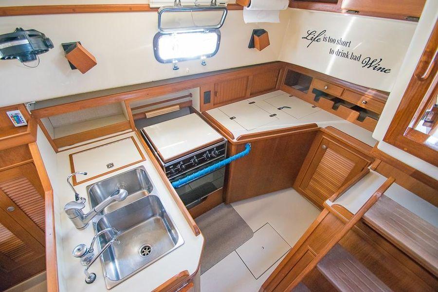 Island Packet 45 Sailboat Galley Kitchen