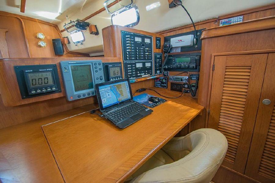 Island Packet 45 Sailboat Nav Station